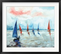 Framed Sailing Boats Regatta