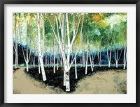 Framed White Trees