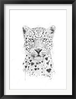 Framed Lovely Leopard