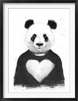 Framed Lovely Panda