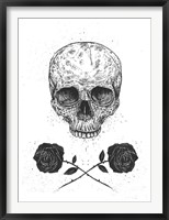 Framed Skull N Roses