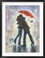 Framed Kiss in the Rain