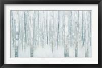 Framed Birches in Winter Blue Gray