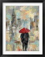 Rain in the City I Framed Print