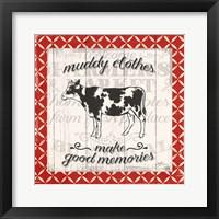 Farmers Market IV Framed Print