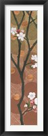 Cherry Blossoms Panel I Crop Framed Print