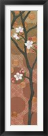 Cherry Blossoms Panel II Crop Framed Print