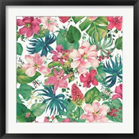 Framed Tropical Dream Bright on White