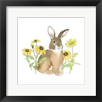 Wildflower Bunnies III Sq Framed Print