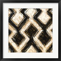 Black and Gold Geometric III Crop Framed Print
