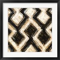 Framed Black and Gold Geometric III Crop