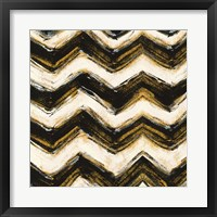Black and Gold Geometric IV Crop Framed Print