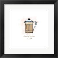 Good Brew IV Framed Print