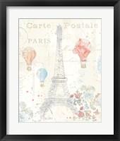 Lighthearted in Paris II Framed Print