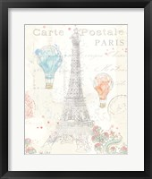 Lighthearted in Paris III Framed Print