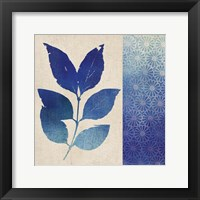 Indigo Leaves I Framed Print