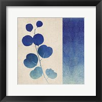 Indigo Leaves II Framed Print