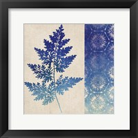 Indigo Leaves III Framed Print