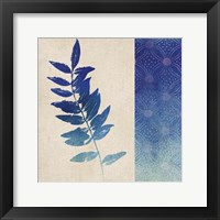 Indigo Leaves IV Framed Print