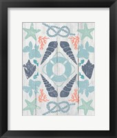 Coastal Otomi II on Wood Framed Print
