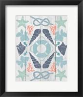 Coastal Otomi II on Wood Framed Print