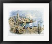 Fishing Dock C Framed Print