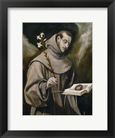 Framed Saint Anthony of Padua, 1577-79