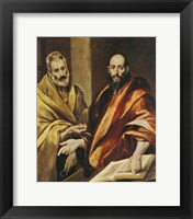 Framed Saints Peter and Paul