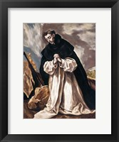 Framed St Dominic in Prayer