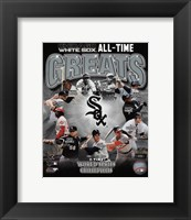 Framed Chicago White Sox All-Time Greats