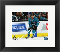 Framed Joe Pavelski 2016 Stanley Cup Playoffs Action