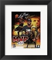 Framed Lebron James 2016 NBA Finals MVP Portrait Plus