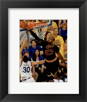 Framed Lebron James block Game 7 of the 2016 NBA Finals
