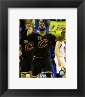 Framed Lebron James celebrates Game 7 of the 2016 NBA Finals