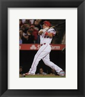 Framed Mike Trout 2016 Action