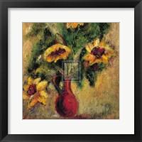 Framed Fleurs d'Automne I