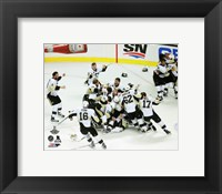 Framed Pittsburgh Penguins celebrate Game 6 of the 2016 Stanley Cup Finals