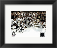 Framed Pittsburgh Penguins Celebration on Ice Game 6 of the 2016 Stanley Cup Finals