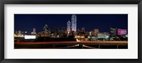 Framed Dallas at Night