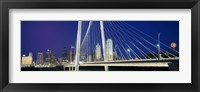 Framed Margaret Hunt Hill Bridge, Dallas, Texas
