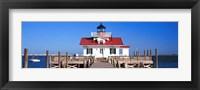 Framed Roanoke Marshes Lighthouse, Outer Banks, North Carolina
