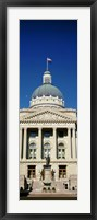 Framed Indiana State Capitol Building, Indianapolis, Indiana