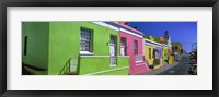 Framed Colorful Houses, Cape Town, South Africa