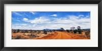 Framed Dirt Road in Tsavo East National Park, Kenya