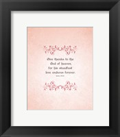 Framed Psalm 136:26, Give Thanks (Peach)