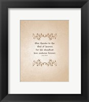 Framed Psalm 136:26, Give Thanks (Beige)