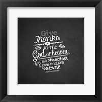 Framed Psalm 136:26, Give Thanks (Chalkboard)