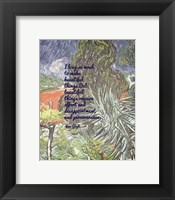 Framed Beautiful Things - Van Gogh Quote 1