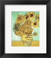 Framed Small Things - Van Gogh Quote 1