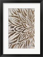 Framed Barnwood Bloom I - Metallic Foil